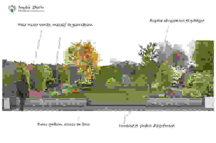 Jardines modernos de Sophie Durin | Empreinte Paysagère Moderno Compuestos de madera y plástico
