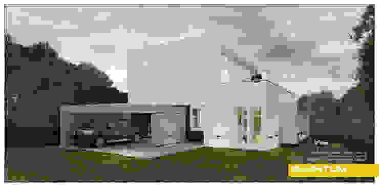 FACHADA FRONTAL Casas minimalistas de Betiana Denardi | Arquitecta Minimalista Hormigón