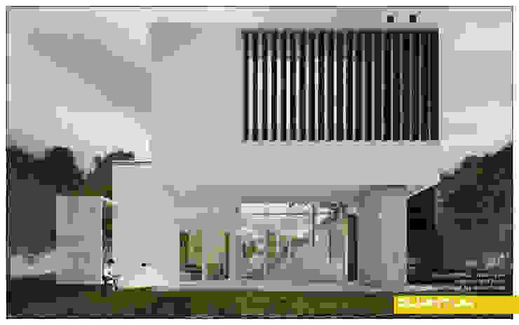 FACHADA POSTERIOR Casas minimalistas de Betiana Denardi | Arquitecta Minimalista Hormigón