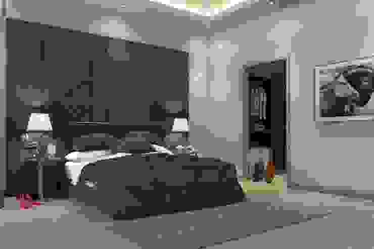Panorama villaları F&F mimarlik Modern Yatak Odası Metal Gri