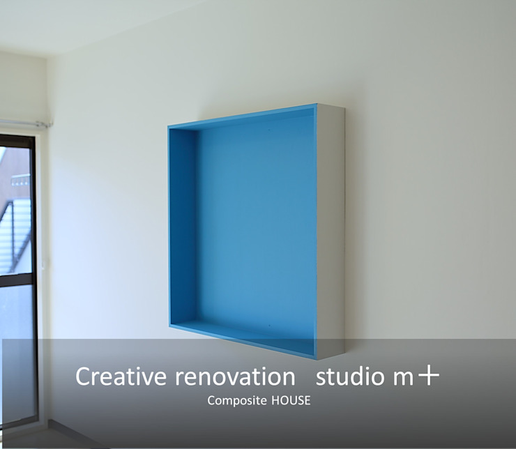 studio m+ by masato fujii Skandinavische Wände & Böden