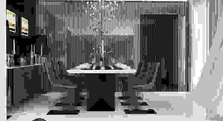 GN İÇ MİMARLIK OFİSİ – İstanbul tarabya daki villanın içi: modern tarz , Modern Demir/Çelik