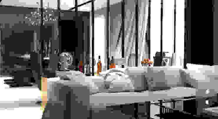 GN İÇ MİMARLIK OFİSİ – İstanbul tarabya daki villanın içi: modern tarz , Modern Aluminyum/Çinko