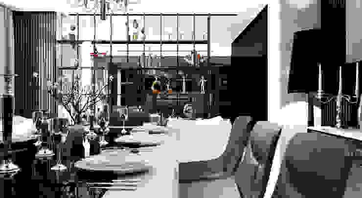 GN İÇ MİMARLIK OFİSİ – İstanbul tarabya daki villanın içi: modern tarz , Modern Deri Gri