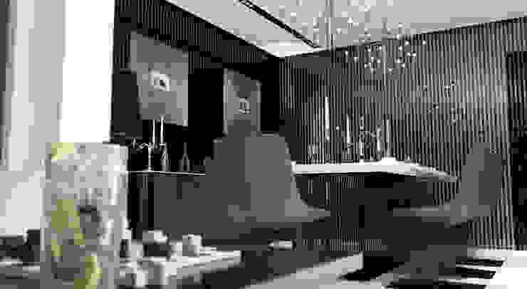 GN İÇ MİMARLIK OFİSİ – İstanbul tarabya daki villanın içi: modern tarz , Modern Granit