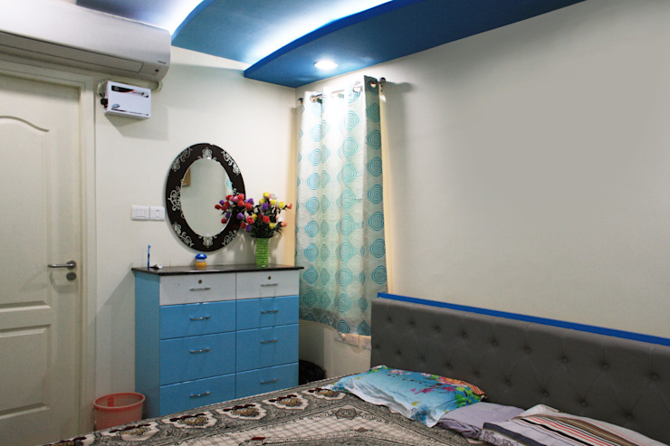 3bhk apartment in Appasamy Mapleton, Pallikaranai.. Asian style bedroom by Ashpra Interiors Asian