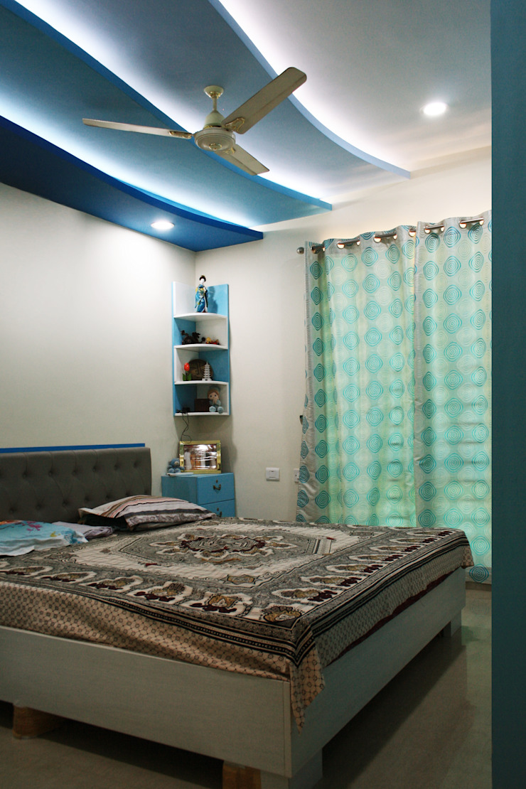 Asian style bedroom by Ashpra Interiors Asian