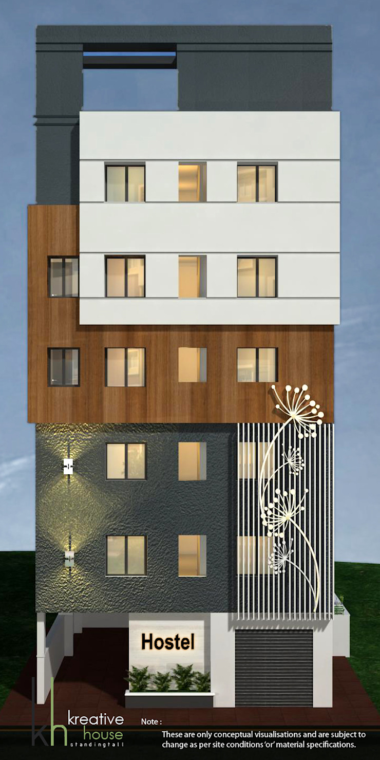 A CONTEMPORARY HOSTEL BUILDING WITH FULL OF STYLE Eclectic style houses by KREATIVE HOUSE Eclectic