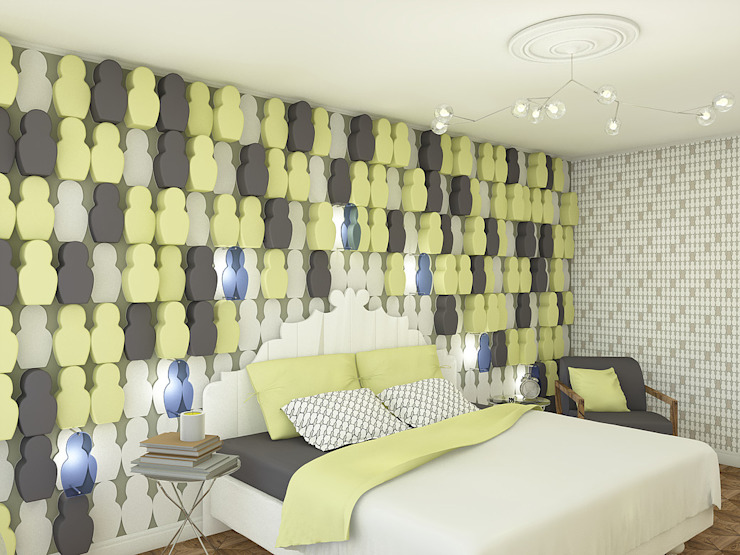 Заводные матрешки Спальня в эклектичном стиле от Студия Интерьерных Решений Десапт Эклектичный