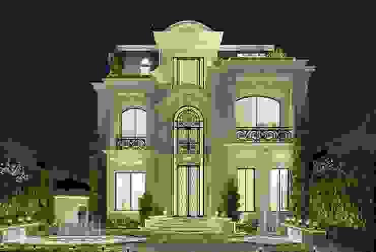 Exploring Luxurious Homes : Enchanting Exterior Architecture من IONS DESIGN كلاسيكي حجر