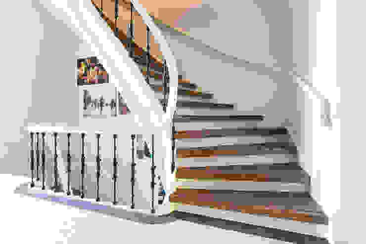 Traprenovaties Landelijke gangen, hallen & trappenhuizen van Stairz Landelijk Hout Hout