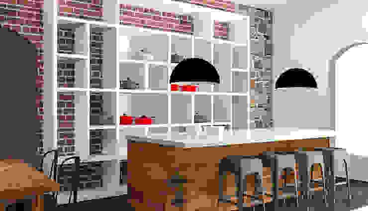 LUOVA CORPORATIVO. Diseño Interior y Equipamiento a Medida de LOCAL Alma Gourmet Estudios y oficinas industriales de LUOVA Interiorismo Industrial