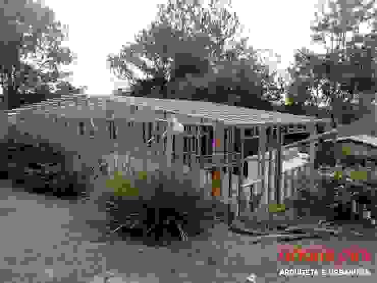 Veranêio Gaivota Casas campestres por AP Arquitetura Ecoeficiente Campestre