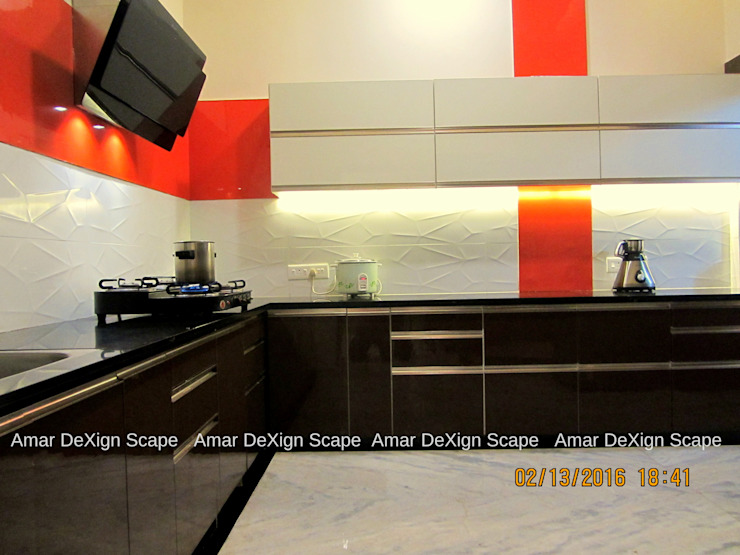 Senthil Residence - Kitchen Renovated by Amar DeXign Scape Minimalist