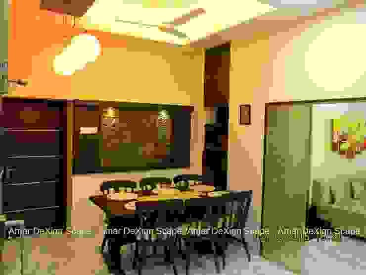 Handmade tiles Minimalist dining room by Amar DeXign Scape Minimalist