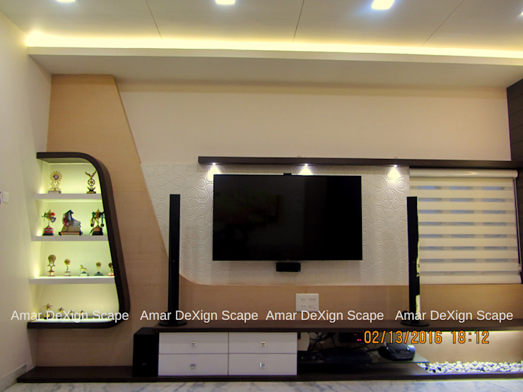 TV Unit Minimalist living room by Amar DeXign Scape Minimalist