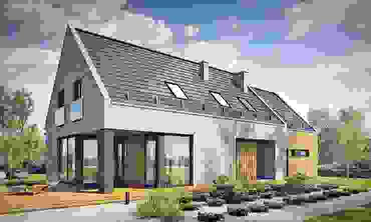 Дома в стиле модерн от TISSU Architekci Модерн Дерево Эффект древесины