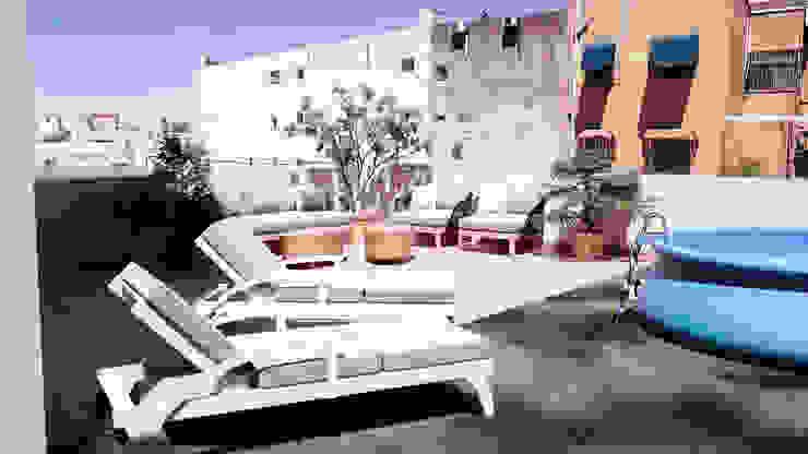 terrace_swimming_pool_virtual ERC Balcones y terrazas de estilo mediterráneo