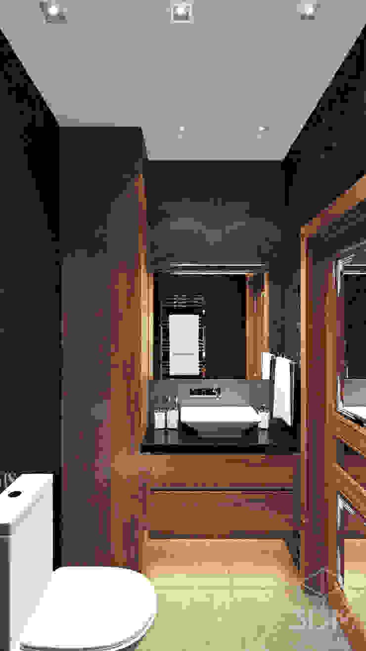 "ЖК ""Томирис"" Ванная комната в стиле минимализм от студия визуализации и дизайна интерьера '3dm2' Минимализм"