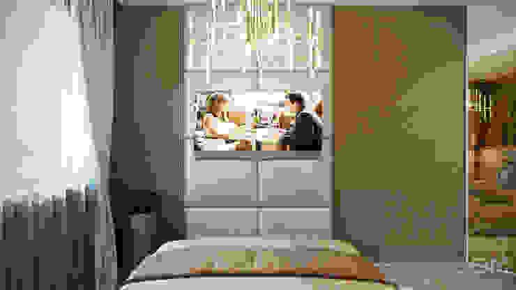 студия визуализации и дизайна интерьера '3dm2' Dormitorios de estilo minimalista