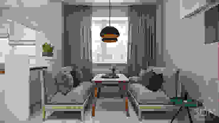 Salas de estilo minimalista de студия визуализации и дизайна интерьера '3dm2' Minimalista