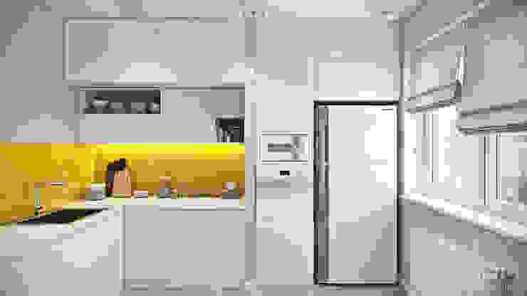студия визуализации и дизайна интерьера '3dm2' Minimalist kitchen
