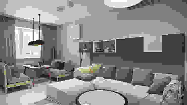 студия визуализации и дизайна интерьера '3dm2' Minimalist living room