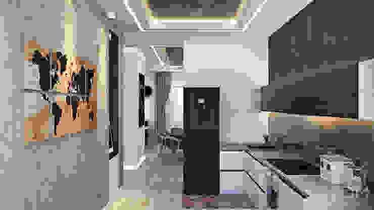 студия визуализации и дизайна интерьера '3dm2' Cocinas de estilo minimalista