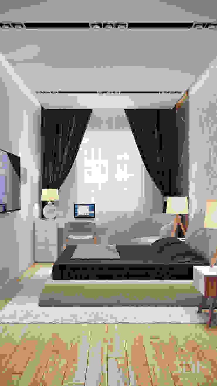 студия визуализации и дизайна интерьера '3dm2' Cuartos de estilo minimalista