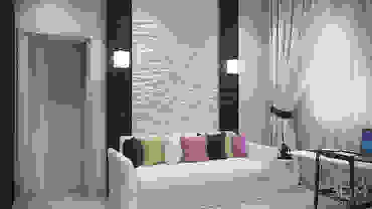 студия визуализации и дизайна интерьера '3dm2' Salas de entretenimiento de estilo minimalista