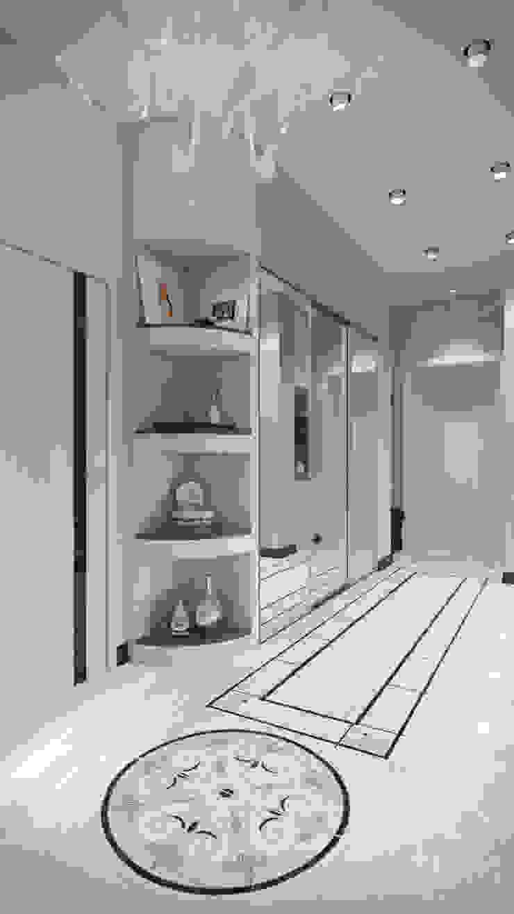 студия визуализации и дизайна интерьера '3dm2' Pasillos, vestíbulos y escaleras de estilo minimalista