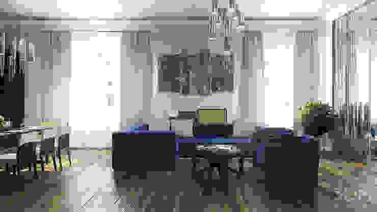 студия визуализации и дизайна интерьера '3dm2' Salas de estilo industrial