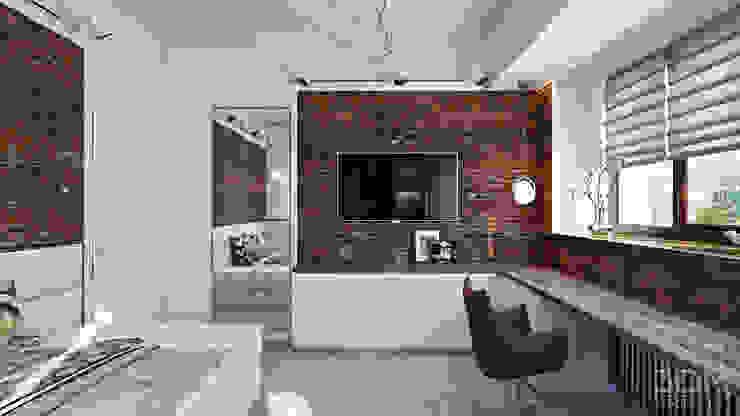 Dormitorios minimalistas de студия визуализации и дизайна интерьера '3dm2' Minimalista