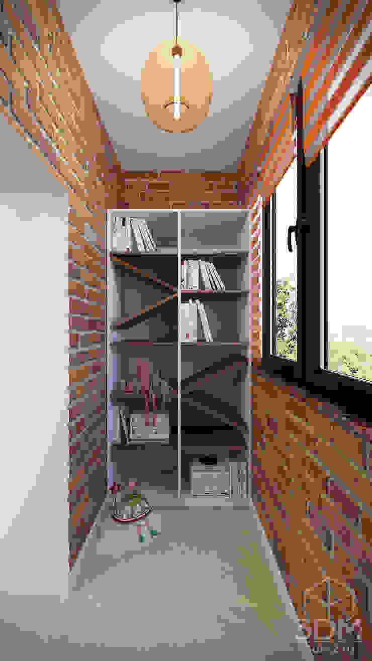 Balcones y terrazas minimalistas de студия визуализации и дизайна интерьера '3dm2' Minimalista