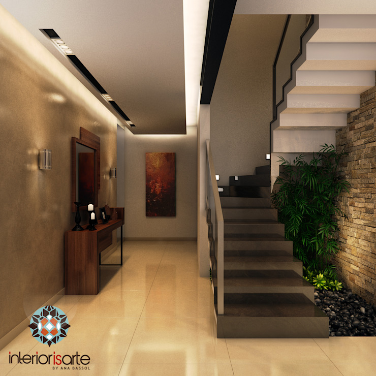 Modern Corridor, Hallway and Staircase by Interiorisarte Modern Stone