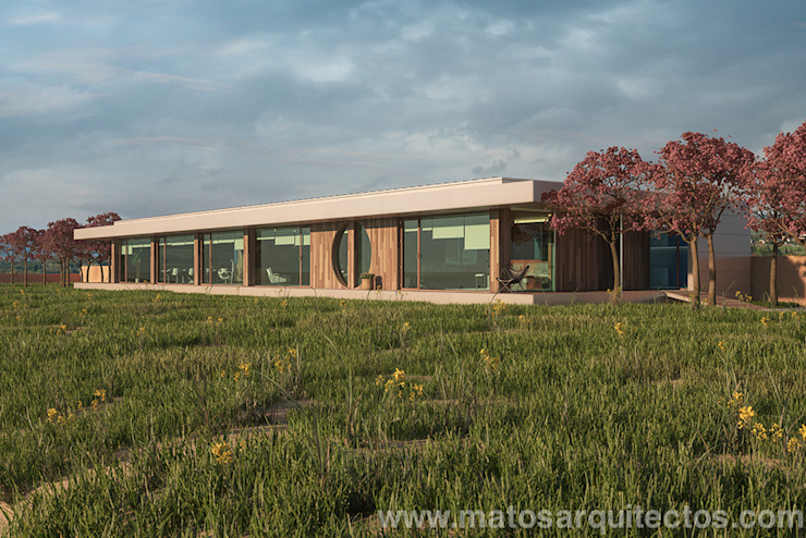 House by River side Casas de estilo moderno de Matos Architects Moderno Madera maciza Multicolor