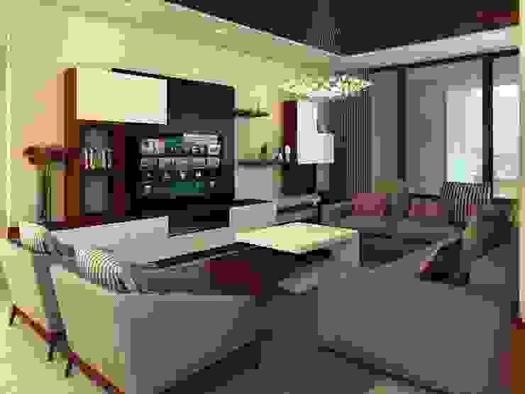 Residencia AC Salones modernos de Interiorisarte Moderno