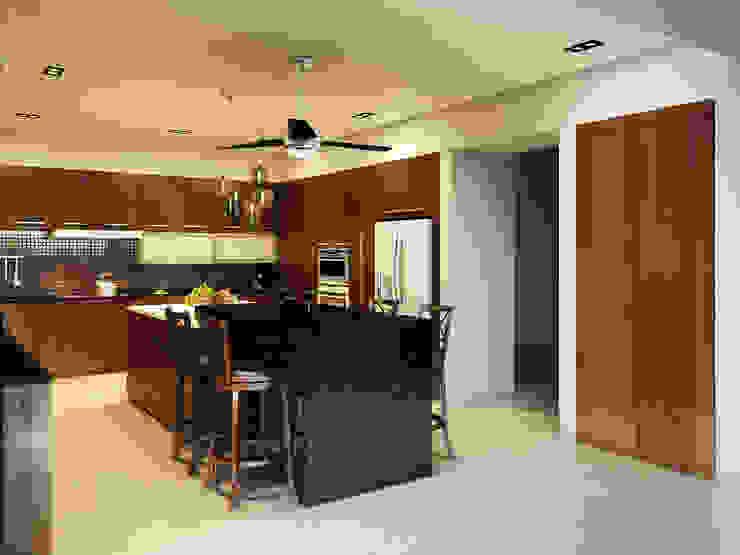 Residencia AC Cocinas modernas de Interiorisarte Moderno Cuarzo