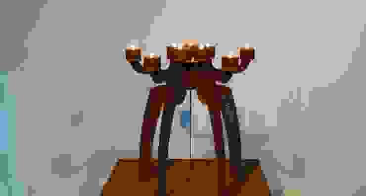 candlestick 'SINDRI' cortensteel van PRODUCTLAB we create Minimalistisch IJzer / Staal
