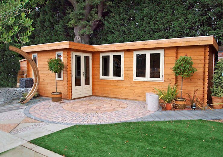 Log Cabin Modern style gardens by homify Modern Wood Wood effect