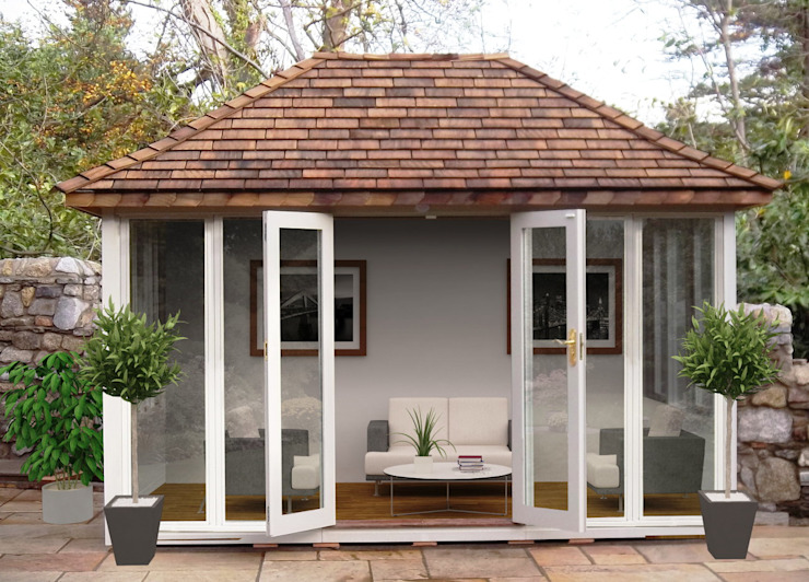 Summerhouse Classic style gardens by Garden Affairs Ltd Classic Wood Wood effect