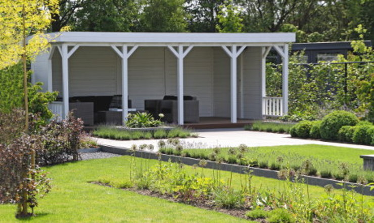 Gazebo Jardines de estilo clásico de Garden Affairs Ltd Clásico Madera Acabado en madera