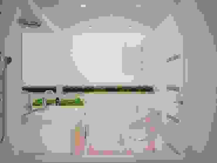 Квартира с антресолью в г. Королев Ванная комната в скандинавском стиле от дизайн-бюро ARTTUNDRA Скандинавский Плитка