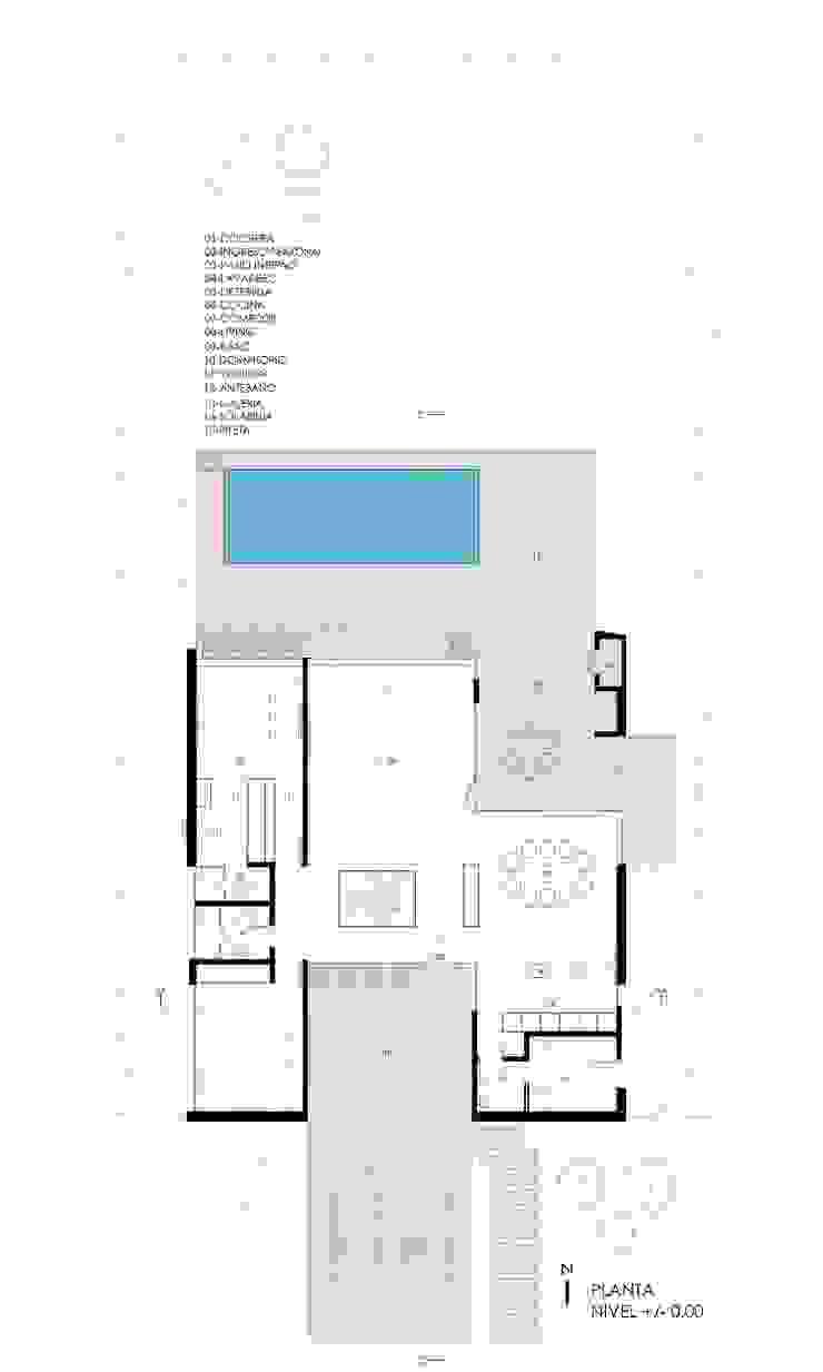 PLANTA GENERAL Casas de estilo minimalista de VISMARACORSI ARQUITECTOS Minimalista