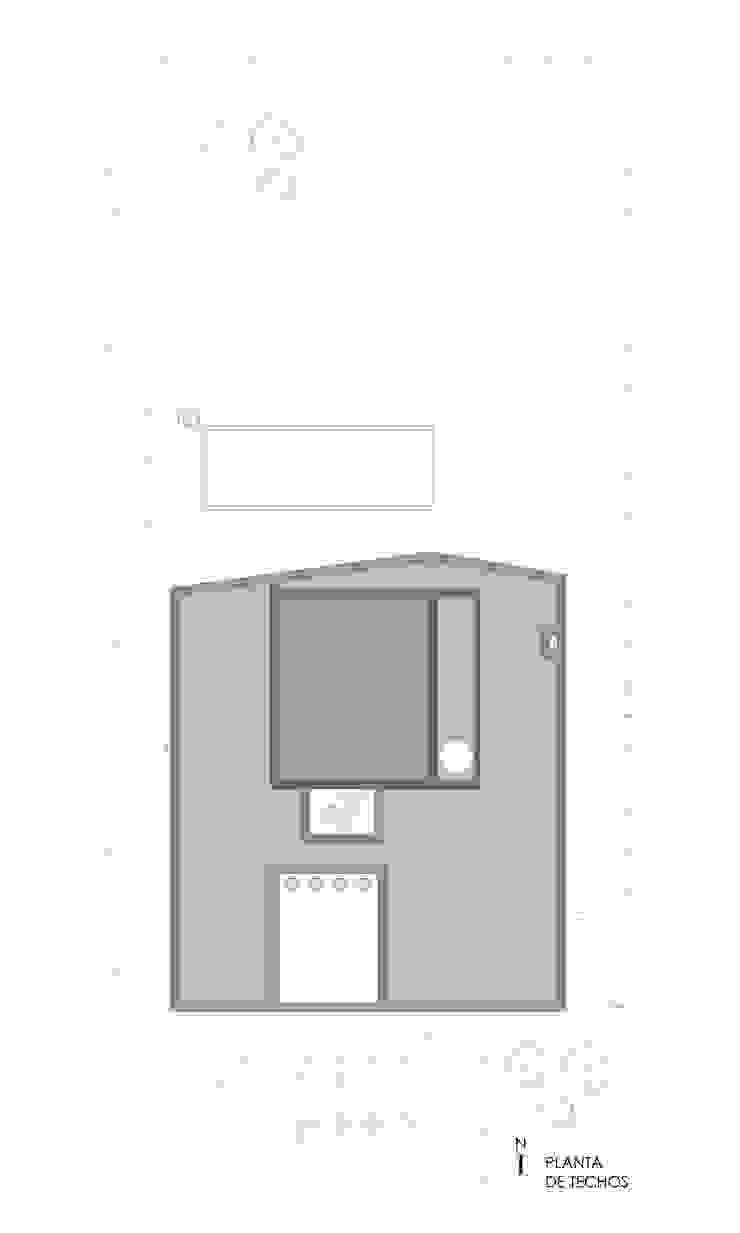 PLANTA DE TECHOS Casas de estilo minimalista de VISMARACORSI ARQUITECTOS Minimalista