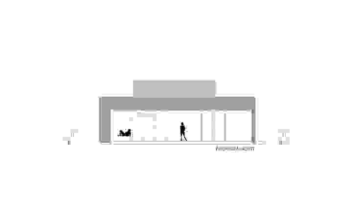 VISTA CONTRAFACHADA NORTE Casas de estilo minimalista de VISMARACORSI ARQUITECTOS Minimalista