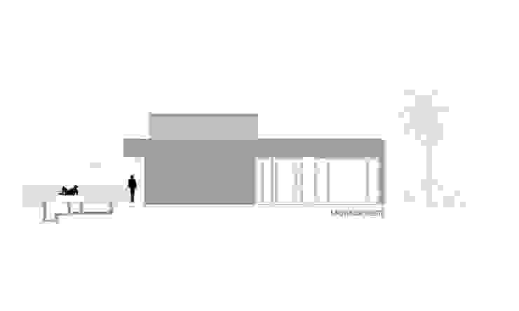 FACHADA OESTE Casas de estilo minimalista de VISMARACORSI ARQUITECTOS Minimalista
