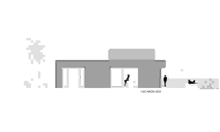 FACHADA ESTE Casas de estilo minimalista de VISMARACORSI ARQUITECTOS Minimalista