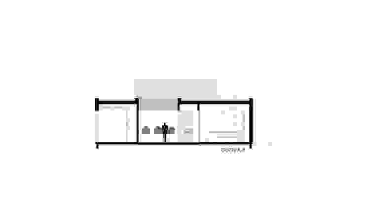 CORTE AA Casas de estilo minimalista de VISMARACORSI ARQUITECTOS Minimalista