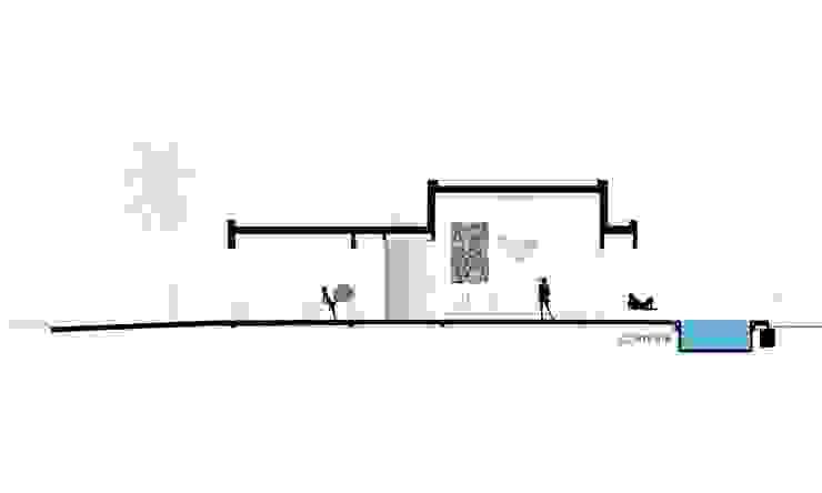 CORTE BB Casas minimalistas de VISMARACORSI ARQUITECTOS Minimalista